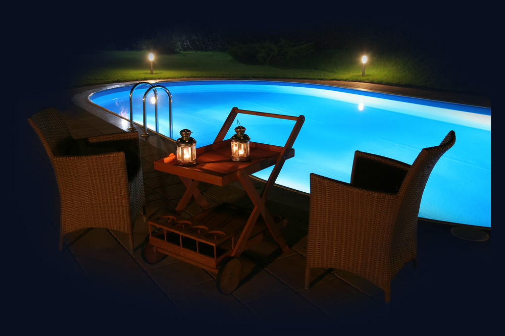 Swimming Pool in the evening